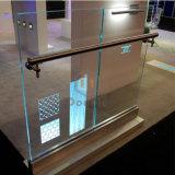 Le restaurant de l'aluminium LED U Channle balustrade en verre avec main courante en acier