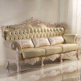 Strato di cuoio classico del sofà per la mobilia del salone (512A)