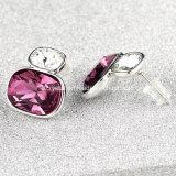 Het Roze van de Oorring van het Kristal van de Juwelen van de vrouw