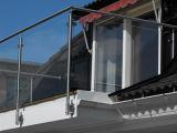 Diseño de interior de la barandilla de la escalera del pasamano 304 del acero inoxidable de Frameless de las escaleras de cristal modernas de la barandilla