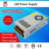 Stromversorgung 12V 20A der Schaltungs-240W für LED-Beleuchtung