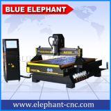 Moinho do router 3 do CNC 8*4 do fornecedor 1325 do ouro, cinzelando a máquina 3D, máquina de gravura do CNC para o seixo