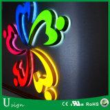 Frontlit y retroiluminación LED iluminado acrílico de 3D LED mini signo (carta del canal de señal)
