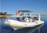 Barco inflável rígido do barco do reforço da casca da fibra de vidro de China 6.6m