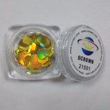 レーザーのホログラフィック金きらめきの薄片21501ボディきらめき