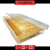 Transparencia llena/bandeja especial de la viruta de póker del oro (YM-CT04)