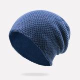 Le Double couche de Mens a contrôlé le chapeau de patinage de ski de Beanies tricoté parhiver chaud surdimensionné de chapeaux (HW406)