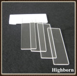 CLEAR polish Customized Quartz Glass Microscope Slides