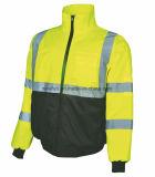 100% полиэстер En 471 высокая видимость желтая отражательная трость костюм