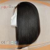 떨어져 까만 Virgin 머리 실크 최고 여자 가발 (PPG-l-0559)