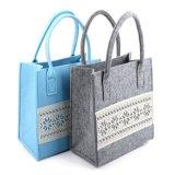 アートワークが付いている美しいフェルトのショッピング肩のハンドバッグ