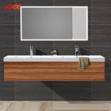新しいデザイン浴室衛生製品の石のキャビネットの洗面器