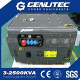 공기에 의하여 냉각되는 수직 샤프트 2 실린더 디젤 엔진 발전기 최고 침묵하는 10kw
