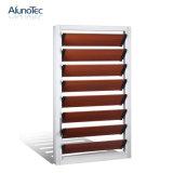 Kundenspezifischer Aluminiumrahmen-Glasluftschlitz-Blendenverschluß Windows