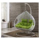 최신 현대 여가 홈 호텔 사무실 금속 고리 버들 세공 둥근 등나무 거는 의자 (J829)