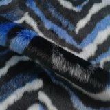 Blaue multi Farben-langer Stapelfaux-Pelz für Kleid, Kissen und Beutel