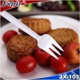 Jx103 Poids léger trois dents Fourchette PS jetables utilisés dans le gâteau et thé en après-midi