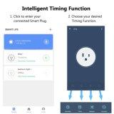 Wi-Fi Smart разъем Mini выходе с мониторинг энергопотребления, работает с Amazon Alexa эхо и Google Assistant не требуется ступицы, ETL, белого цвета