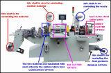 Etiqueta adhesiva automático de bobinas de papel/película/máquina de troquelado de cinta con estampado de lámina caliente