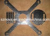 Placa para as peças do Uav, corte da fibra do carbono do CNC de RC Hobbys