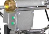 Roda do trilho obstruída e câmera da tubulação da inspeção da água de esgoto do escape da água