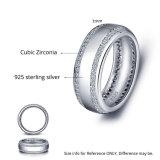 남자 & 여자 AAA CZ 925 은 형식 은 보석을%s 결혼 반지