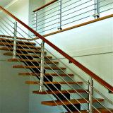 耐久のステンレス鋼の固体棒棒バルコニー階段デッキの柵の手すり