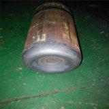 De acero sin costura médicos caliente del cilindro de gas de oxígeno de la máquina girando