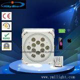 Het UV LEIDENE van Uplight 12PCS van de Batterij van het Lithium van de Prijs van de Fabriek van Guangzhou Slanke Licht van het PARI, de Wasmachine van de Muur van de Partij van het Huwelijk