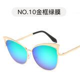 Designer de moda de óculos de Olho de Gato Metal óculos de sol