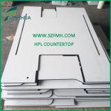 Tapa de vector cuadrada blanca/negra '' X36 '' de HPL 36/tablero de la mesa sólido del restaurante de HPL