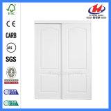 Glissant la porte blanche en bois de tissu de pièce intérieure (JHK-S03)