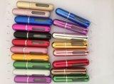 噴霧器の旅行者のためのスプレーヤーが付いている空の多彩なParfumの箱が付いている熱い販売5mlの小型携帯用アルミニウム詰め替え式の香水瓶