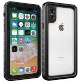 iPhone x를 위해 IP68는 상자, TPU iPhone x/iPhone 10를 위한 내진성 Dirtproof Snowproof 방어적인 전화 상자 덮개를 방수 처리한다