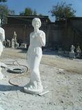 Statue europee di marmo bianche di coltivazione a frana dell'eroe che intagliano scultura