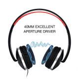 De zachte Hoofdtelefoon van de Oorbeschermers van het Leer Vouwbare Geribde Hoofdtelefoon Getelegrafeerde met Stretchable Hoofdband van de Microfoon
