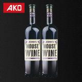 Étiquettes auto-adhésives de vin d'étiquette de collants de vente chaude