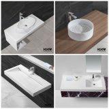 Твердый поверхностный тазик ванной комнаты для проекта гостиницы