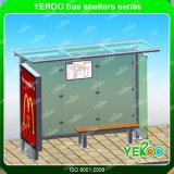 Im FreienbekanntmachenEdelstahl-Straßen-Möbel-Solar Energy Bus-Schutz