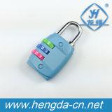 3 azul Combinação Digital Senha de bagagens de cadeado cadeados
