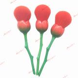 6PCSプロローズの金の花のナイロン毛の構成のブラシセットの基礎はセットブラシ赤面する