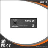 2X 100Base-FX para 1X 10/100Base UTP 1550nm 100km de fibra duplo do conversor de mídia