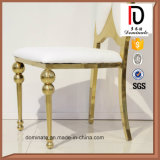 Cadeira de couro da borboleta do plutônio do frame do ouro para o casamento
