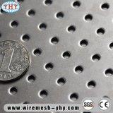 Feuille perforée d'aluminium en métal d'usine
