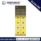 1.5V AG4/Lr626の水星腕時計のための自由なアルカリボタンのセル電池