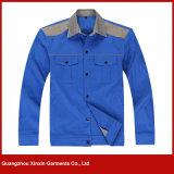 Melhor poliéster personalizado do algodão da qualidade que trabalha o fornecedor uniforme (W87)