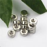 Kundenspezifische Ring-Neodym-Magnet-Nickel-Beschichtung mit angesenkt