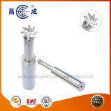 Alta precisión, HRC45/55/60/65 el 8 de flautas de carburo sólido con ranura en T Fresas con orificio de agua utilizado en torno CNC para corte de alta velocidad