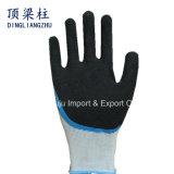 Nylonhandschuhe der sicherheits-13G mit Sandy-Finger verstärkten Latex-Handschuhen