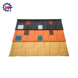 건설물자 다채로운 돌 입히는 금속 지붕널 기와